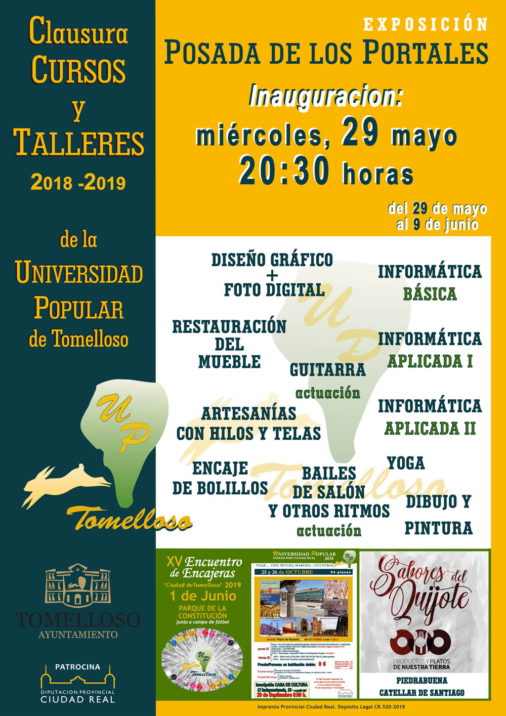 Cartel Clausura UP 2018 19
